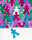 1970s ROWS OF CUT OUT...