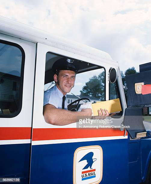 1970s SMILING MAILMAN IN....