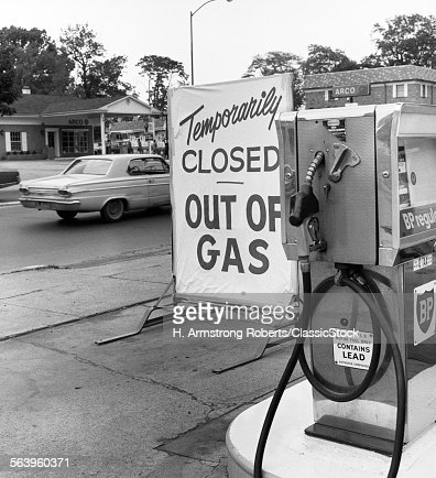 1970s TEMPORARILY CLOSED... : Stock Photo