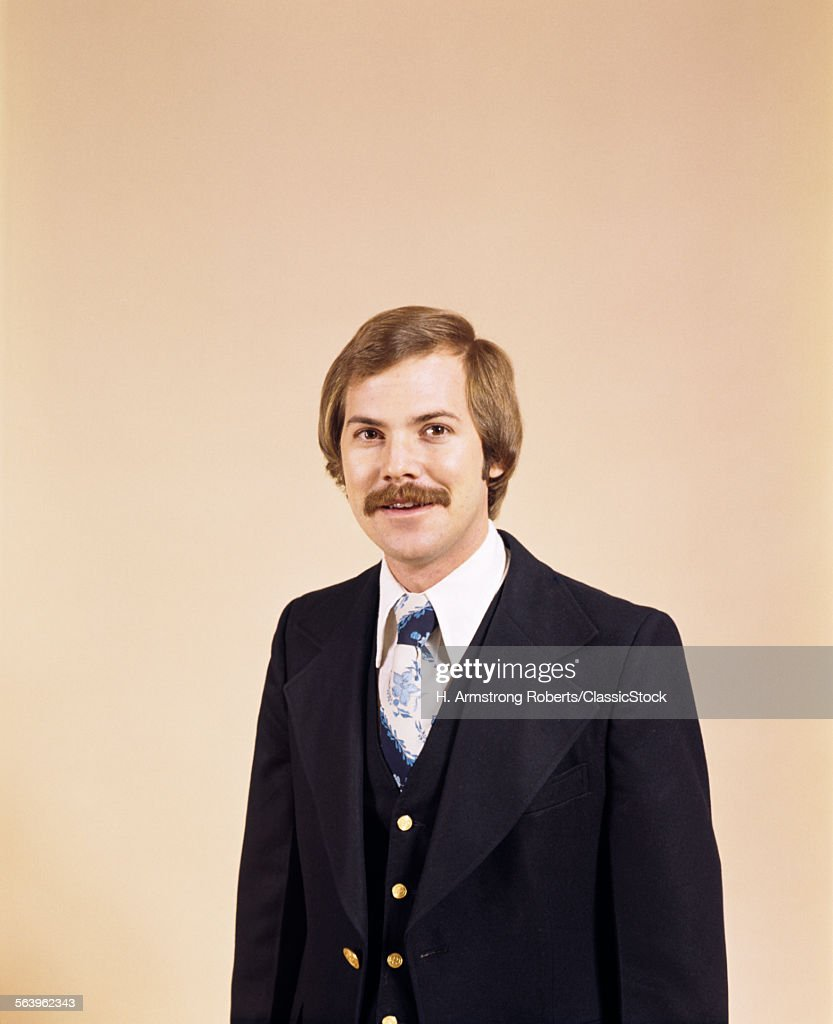 1970s WAIST UP PORTRAIT OF... : Stock Photo