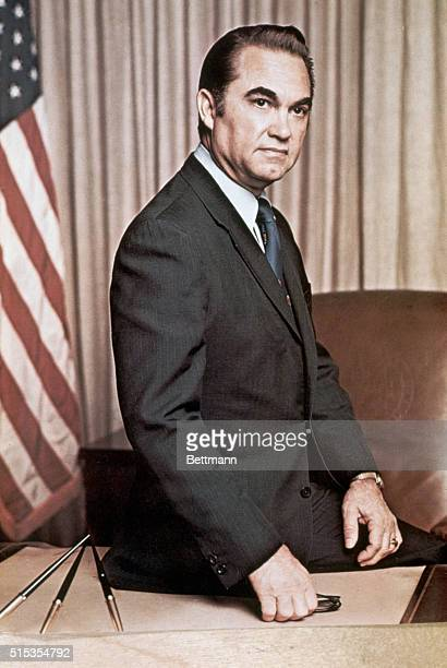 1972Montgomery AL Official portrait of Governor George C Wallace of Alabama