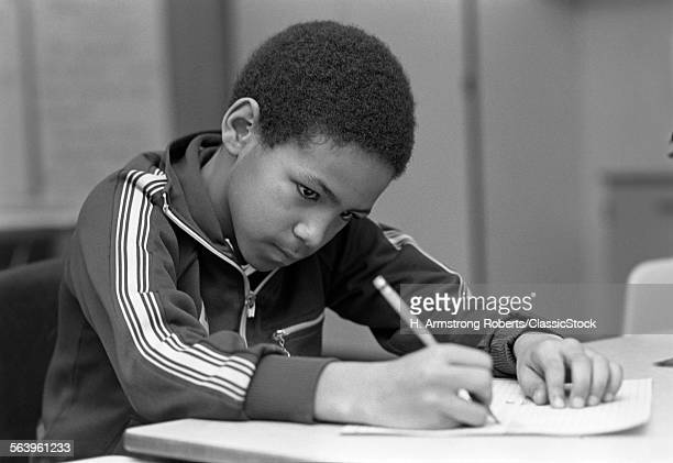 1980s AFRICAN AMERICAN BOY...