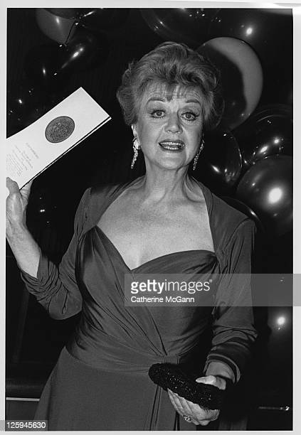 Angela Lansbury at the Tony Awards in the late 1980s in New York City New York