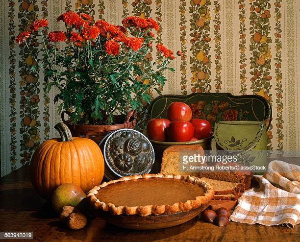 1980s AUTUMN STILL LIFE OF...