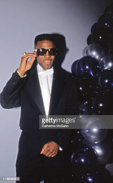 Teddy Riley poses for a photo at an event in the late 1980s in York City New York