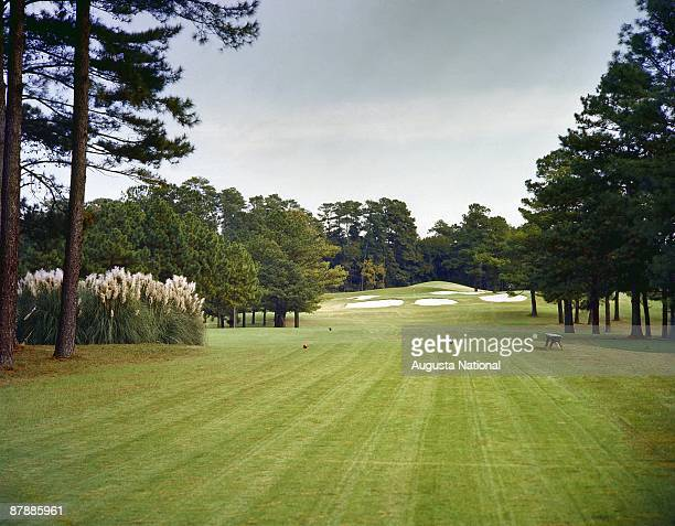 The seventh hole during a 1980s Masters Tournament at Augusta National Golf Club in Augusta Georgia