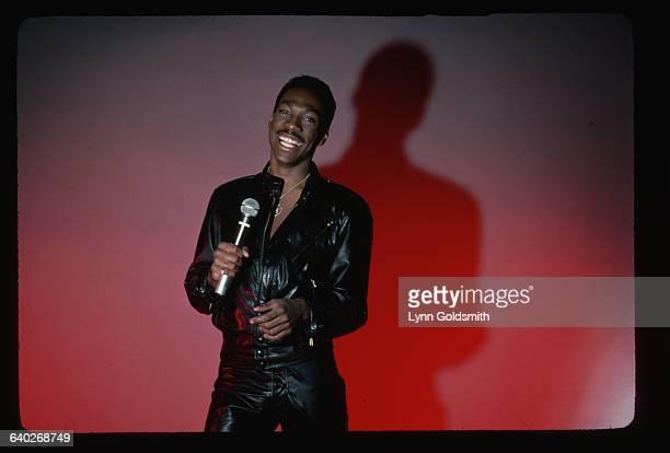 1983Eddie Murphy comedian is shown performing on stage