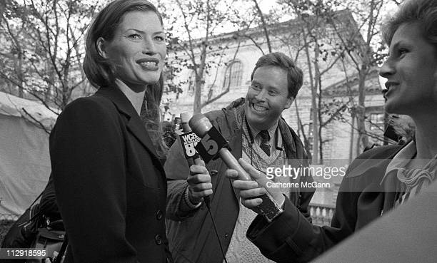 Carre Otis interviewed by the media during fashion week in the mid 1990s in New York City New York