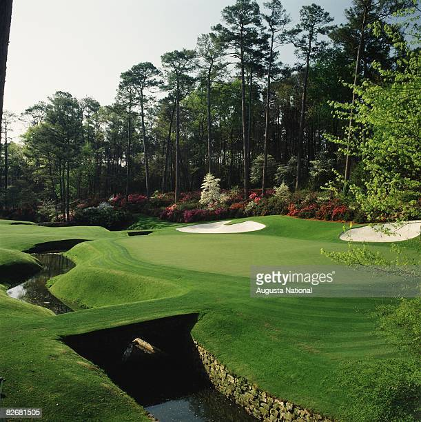 The 12th hole during a 1990's Masters Tournament at Augusta National Golf Club in Augusta Georgia