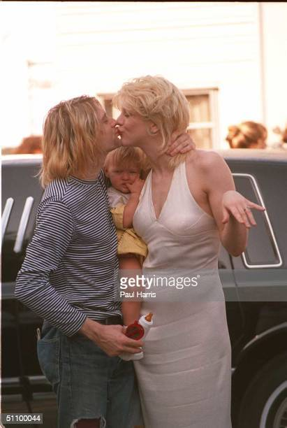Universal CityKurt Cobain Lead Singer Of Nirvana With His Wife Courtney Love