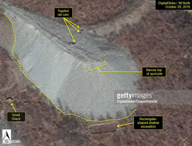 Figure 9 A closeup of the North Portal spoil pile as it appeared in late October 2016 The unstable spoil can sometimes lead to accidents as in this...