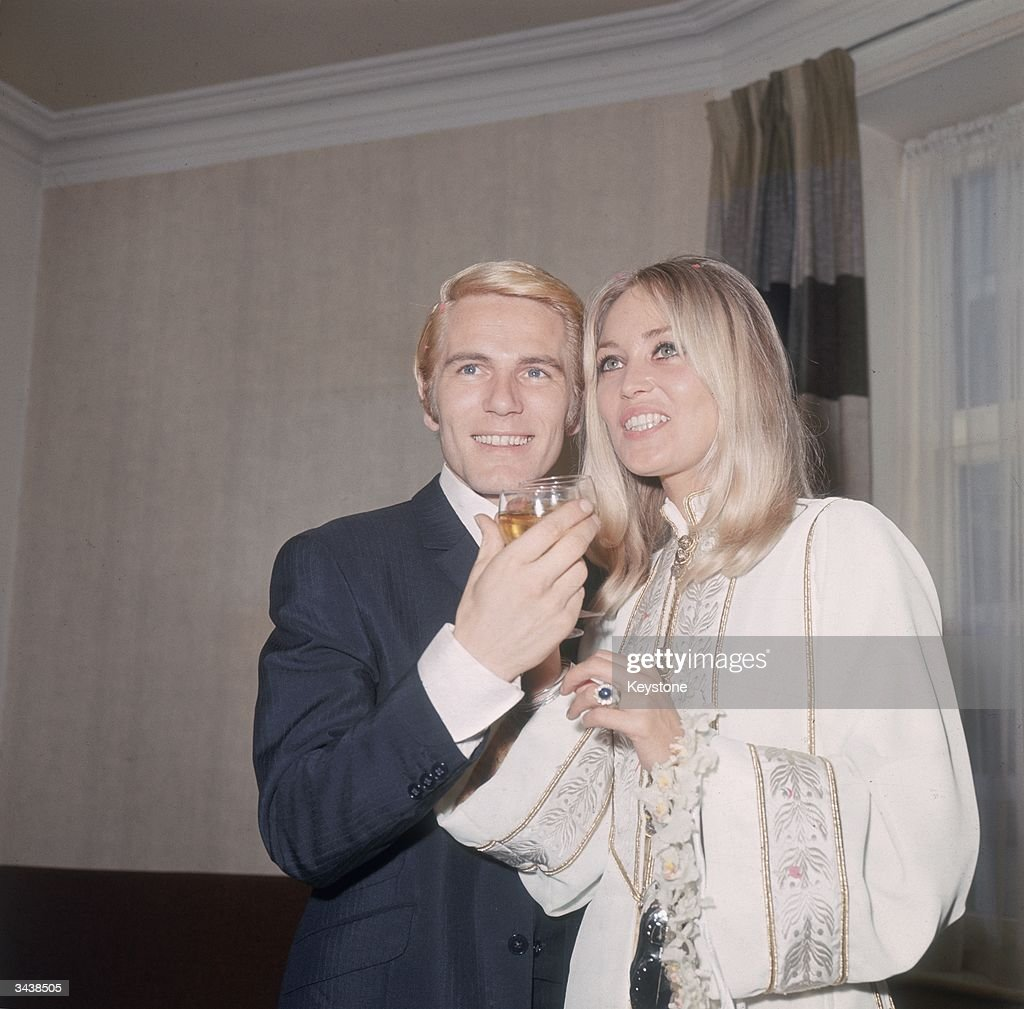 Pop singer and actor Adam Faith (1940 - 2003) with his wife Jackie Irving after their wedding at Caxton Hall registry office in London.