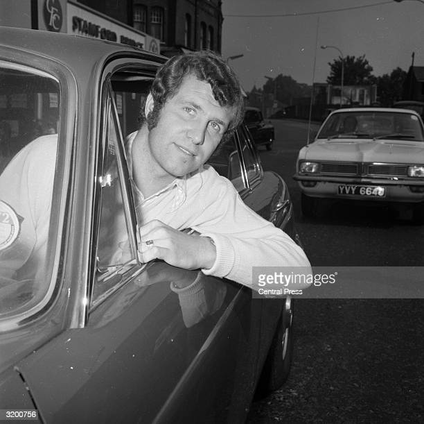 Peter Osgood the England and Chelsea centreforward leaves Stamford Bridge after being informed by his manager Dave Sexton that he has been put on the...