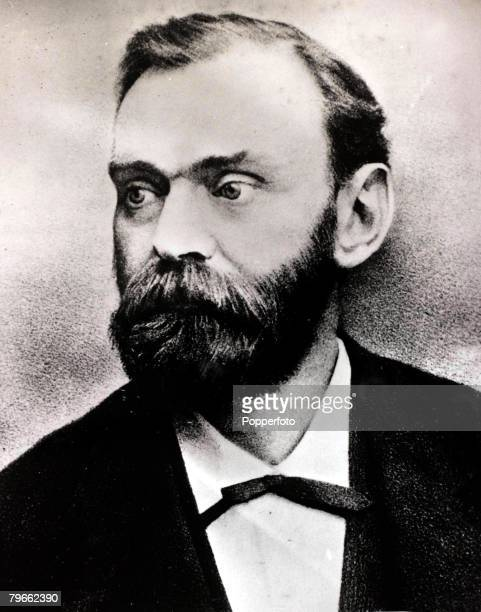 19th Century A portrait of Swedish chemist and philanthropist Alfred Nobel after whom the famous Nobel Peace Prize was named