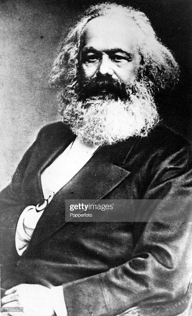 19th Century A portrait of the German founder of modern communism Karl Marx