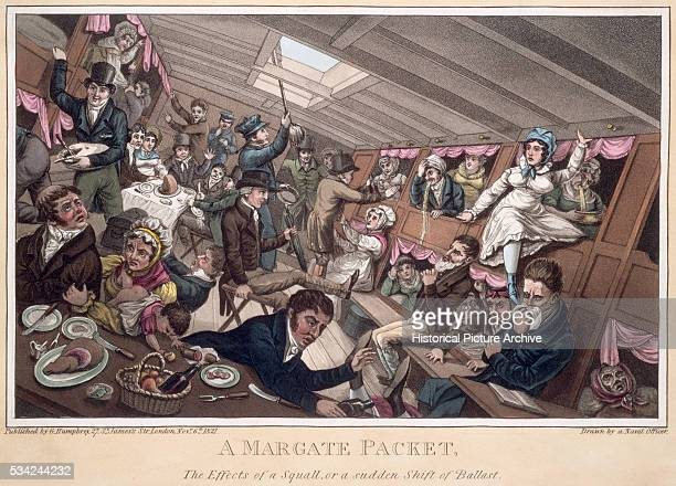 19th Century British Illustration Entitled A Margate Packet