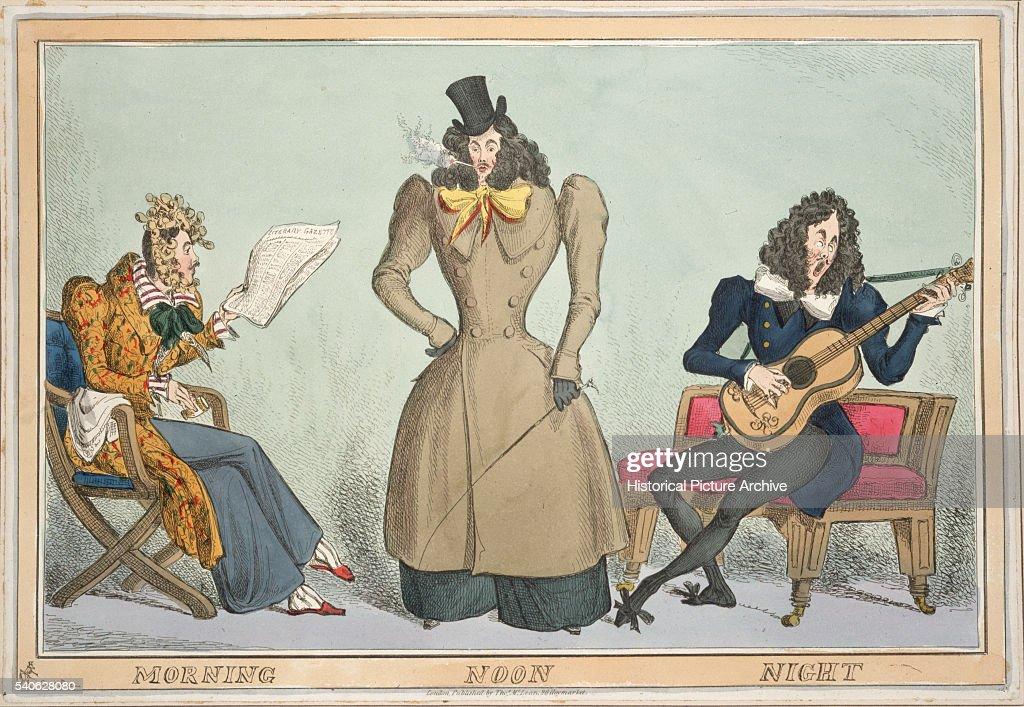 19th Century British Illustration Entitled Morning Noon and Night