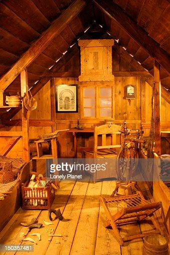 19th Century Drawing Room: 19th Century Communal Living Room Stock Photo