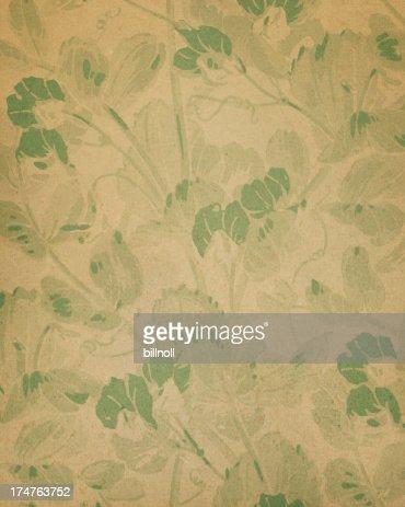 19th Century floral paper design
