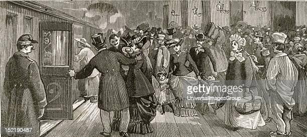 19th Century illustration showing cholera epidemic
