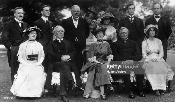 Front row from left Lady Rachel Verney British Liberal statesman Herbert Henry Asquith created 1st Earl of Oxford and Asquith his second wife Margot...