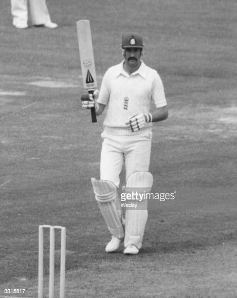 Graham Gooch Essex and England batsman gets his first century for England on the first day of the 2nd test against the West Indies at Lord's