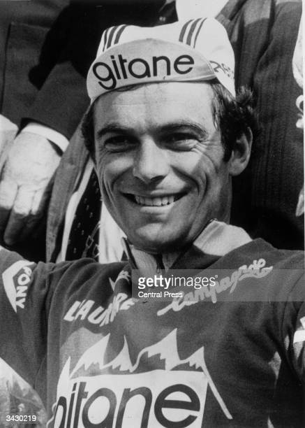 The French cyclist Bernard Hinault the winner of the Tour de France