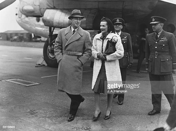 Viscount Mountbatten of Burma arrives home in London from his post as Viceroy of India bringing written reactions from the Indian leaders to the...