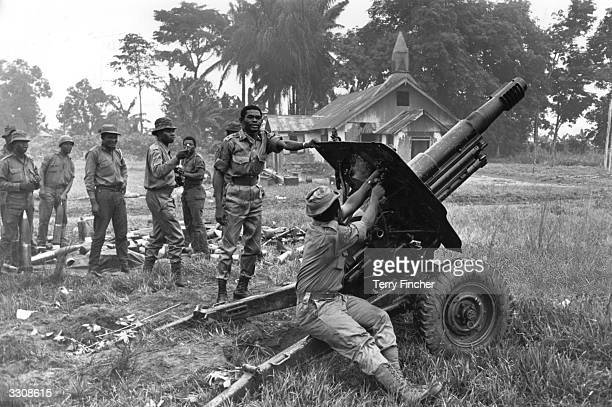 Nigerian Federal Troops in command of Port Harcourt after routing Biafran troops during the Biafran War