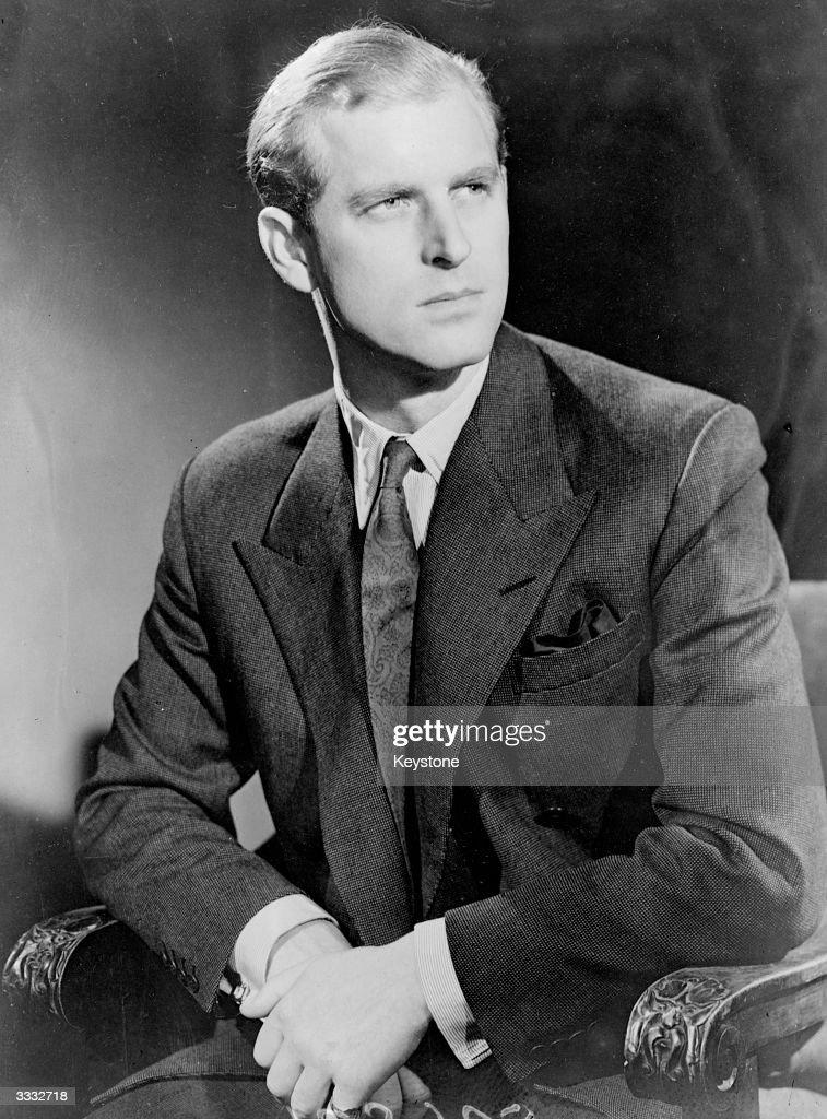 Lieutenant Philip Mountbatten, later HRH the Duke of Edinburgh.