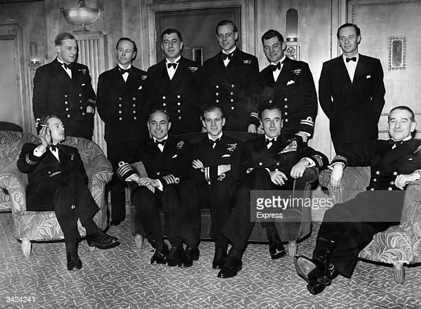 The Duke of Edinburgh son of Prince Andrew of Greece and Princess Alice of Battenberg on the eve of his wedding to Queen Elizabeth II then Princess...