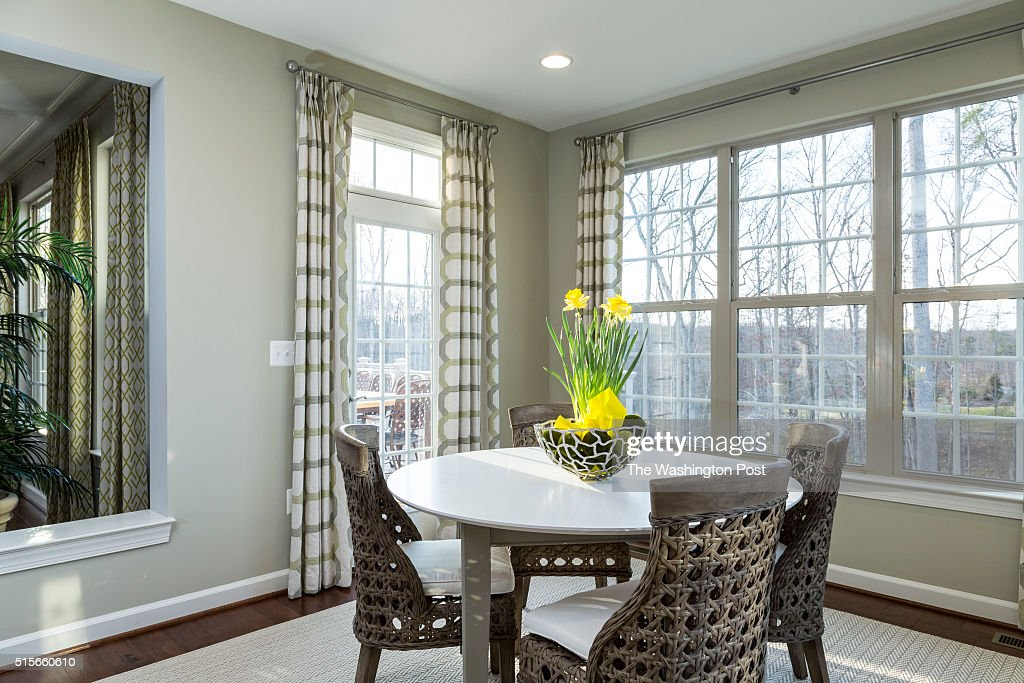 Dining Area in the Lynhurst Model at Hickory Falls on March 1 2016 in Woodbridge Virginia