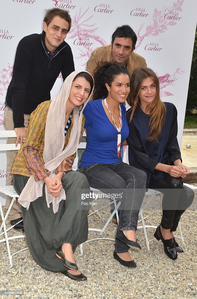 1rst rank Actresses Leila Hatami Sabrina Ouazani and Elisa Sednaoui 2nd rank Actor Benjamin Siksou and actor/director Samuel Benchetrit pose during...