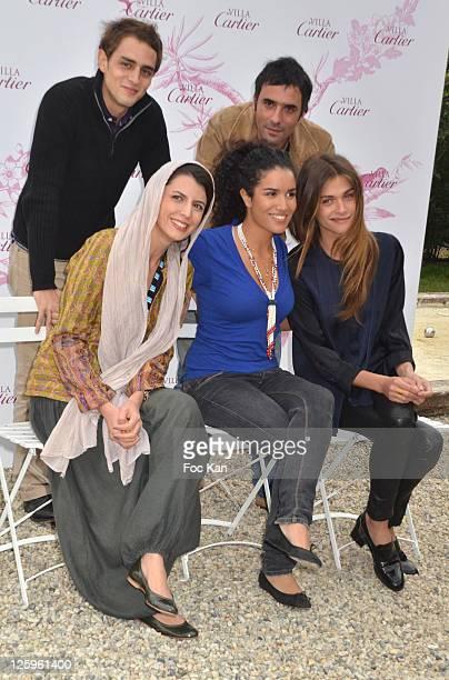 1rst rank Actresses Leila Hatami Sabrina Ouazani and Elisa Sednaoui 2nd rank Actor Benjamin Siksou and actor/director Samuel Benchetrit pose during...