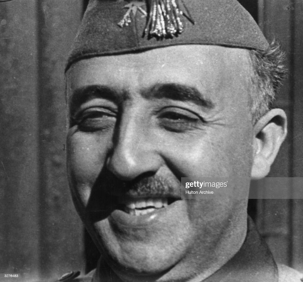 General <a gi-track='captionPersonalityLinkClicked' href=/galleries/search?phrase=Francisco+Franco&family=editorial&specificpeople=190209 ng-click='$event.stopPropagation()'>Francisco Franco</a> (1892 - 1975), the nationalist leader and military dictator of Spain.