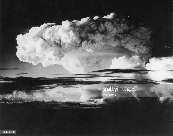 One hundred miles of sky covered by smoke and radioactivity from the first HBomb explosion at Eniwetok Atoll in the Pacific