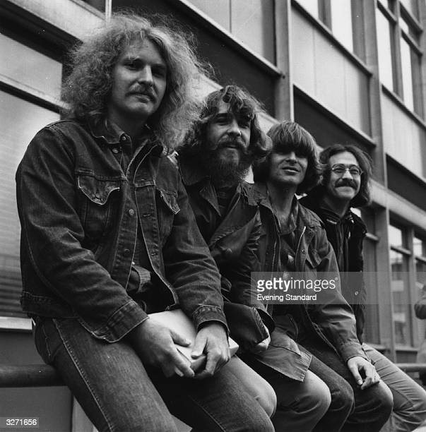 American rock group Creedence Clearwater Revival in London April 1970 From Left to right Tom Fogerty Doug Clifford John Fogerty and Stu Cook