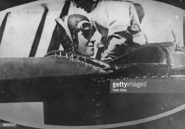 Alfonso Prince of Asturias Crown Prince of Spain the eldest son of King Alfonso XIII and heir to the Spanish throne makes his first flight at the...