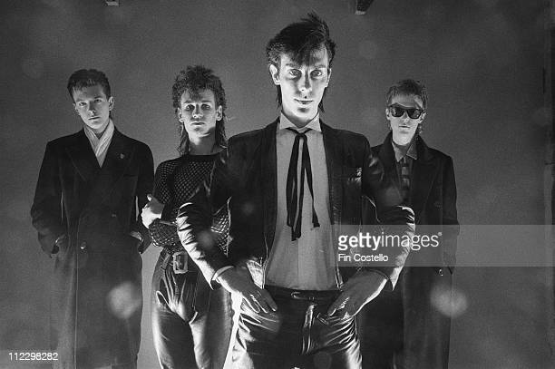 English band Bauhaus posed in London in August 1982 Left to Right Kevin Haskins Daniel Ash Peter Murphy David J