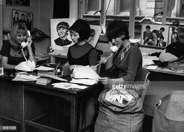 The Beatles fan club office busy enough as it is with 65000 members in Britain alone has gone into overdrive with enquiries about the wellbeing of...