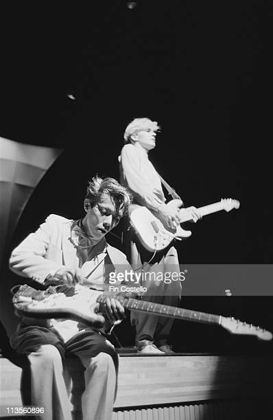 Masami Tsuchiya and David Sylvian from Japan perform live on stage in Japan in December 1982
