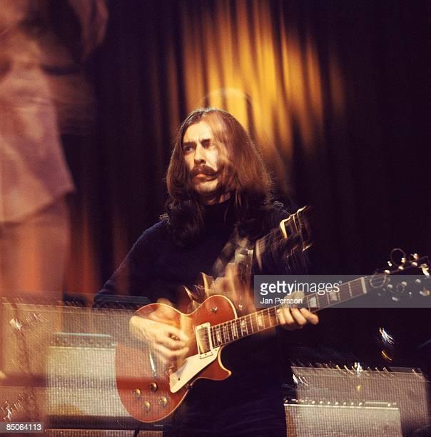 Photo of George HARRISON performing with Delaney Bonnie in Copenhagen Denmark in December 1969