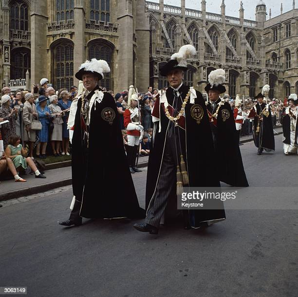 1st Earl Mountbatten of Burma Louis Mountbatten at the Garter Ceremony in Windsor Castle Windsor Berkshire
