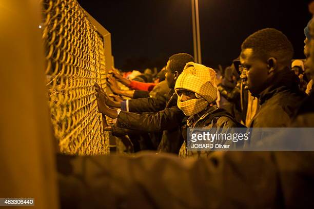 Every nights hundreds of migrants try to pass in England via the Channel Tunnel and every night they are repressed by the police Calais on AUGUST 1st...