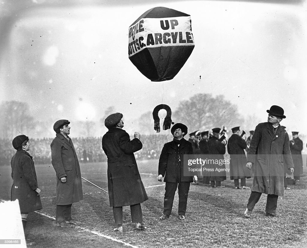 The FA Cup first round, Plymouth Argyle v Notts County at Plymouth. Plymouth Argyle's lucky balloon being released by supporters before the match.