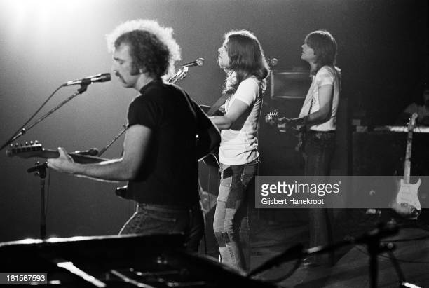 American group Eagles perform live on stage at Concertgebouw in Amsterdam Netherlands in 1972 Left to right Bernie Leadon Glenn Frey and Randy Meisner