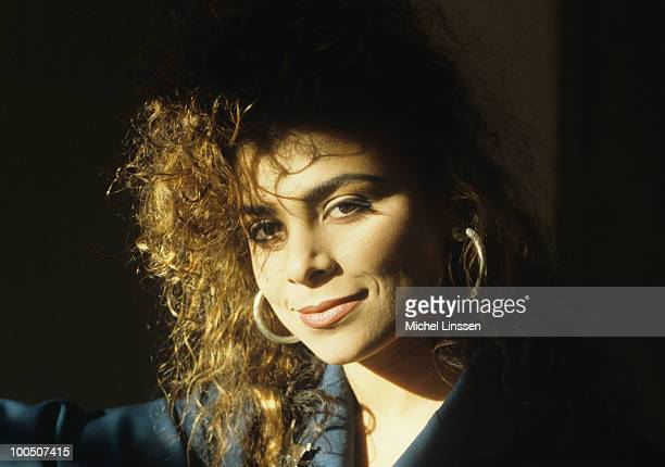 American singer and dancer Paula Abdul posed in The Netherlands in 1989