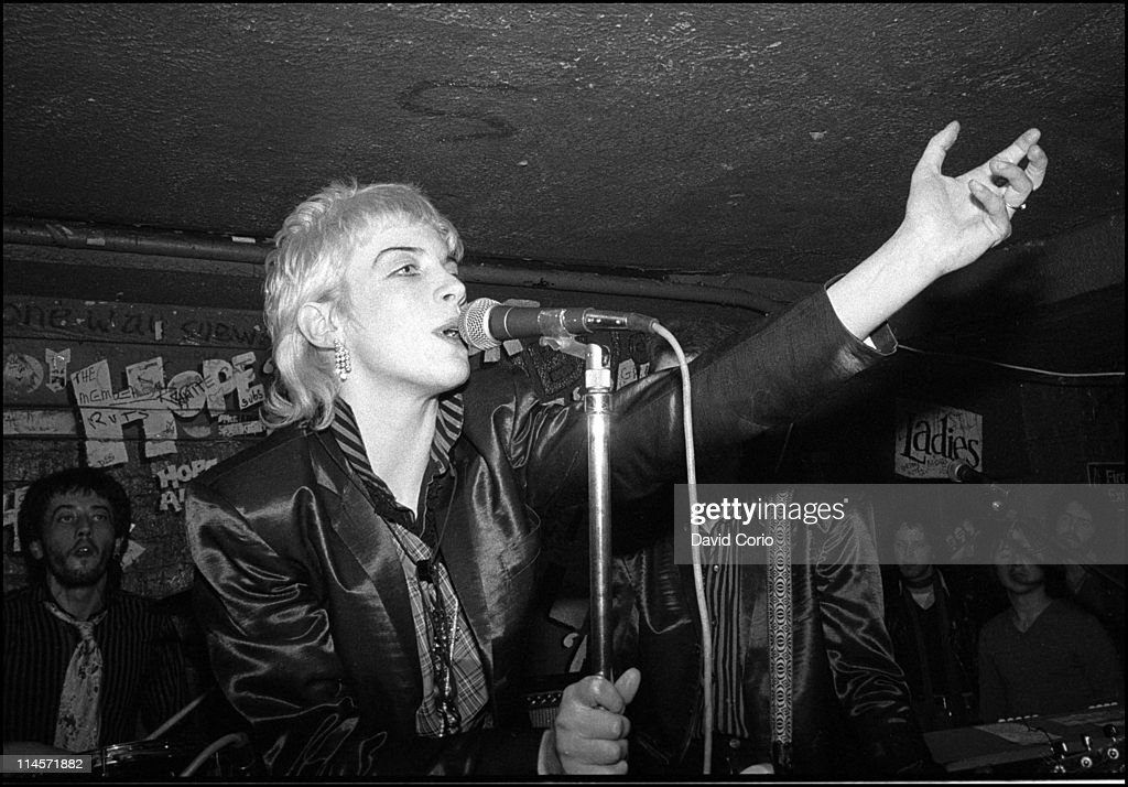 Annie Lennox from The Tourists performs live on stage at the Hope & Anchor pub in Islington, London in 1978