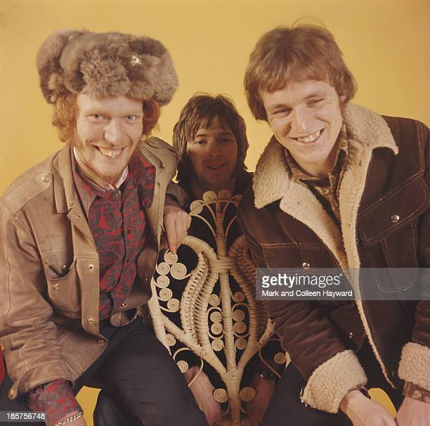 British rock group Cream posed at Fleet Studios in London in 1966 Left to right drummer Ginger Baker guitarist Eric Clapton and bassist Jack Bruce