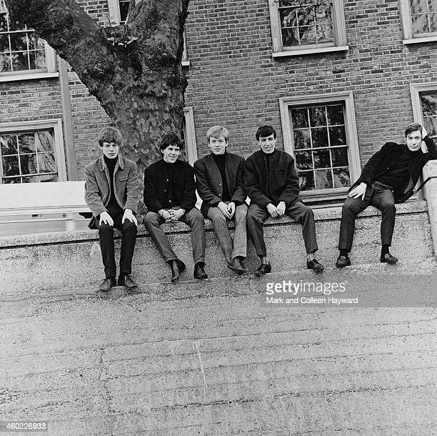 English rock and roll group The Rolling Stones posed on Chelsea Embankment by the river Thames in London in 1963 Left to right Mick Jagger Keith...